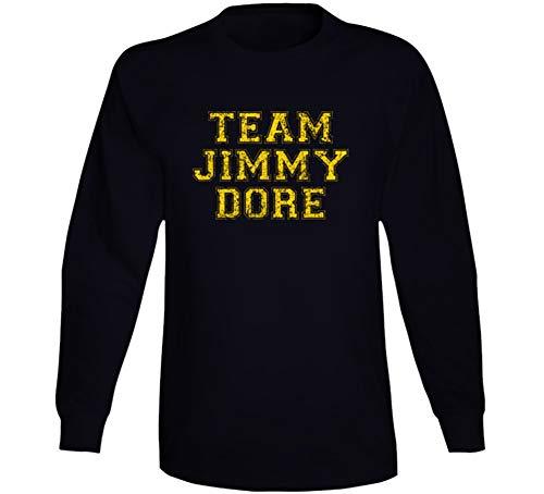 Team Jimmy Dore Comedian Comedy Worn Look Cool Fan Long Sleeve T Shirt L Black