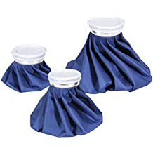 """Ice Cold Pack Ohuhu Reusable Ice Bag Hot Water Bag for Injuries, Hot & Cold Therapy and Pain Relief, 3-Pack, 3 Sizes (6""""/9""""/11"""")"""