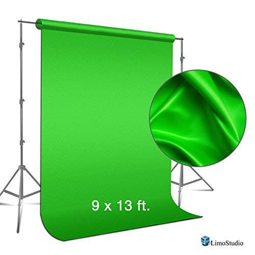(LimoStudio 9 ft. x 13 ft. Green Fabricated Chromakey Backdrop Background Screen for Photo / Video Studio, AGG1846)