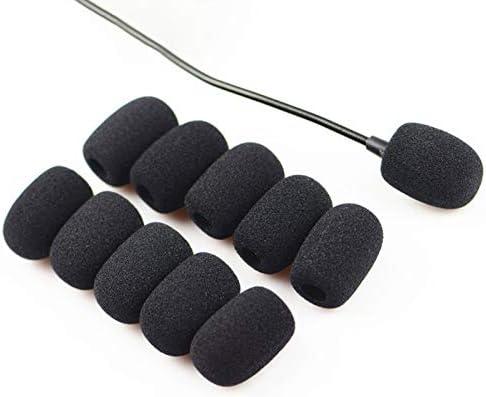 Mini Microphone Casque Pare-brise Mousse cravate et microphones noir BEAUTYBIGBANG 2021 20PCS Anti-vent et anti-pop pour micros Microphone Bonnettes Mousse Microphone