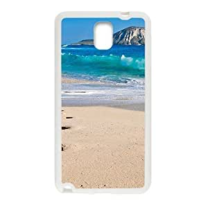 Beach Foot Print White Phone For Case Samsung Note 3 Cover