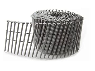B&C Eagle 314X120HDRC Round Head 3-1/4-Inch x .120 x 15 Degree Hot Dip Galvanized Ring Shank Wire Collated Coil Framing Nails (2,500 per box) by B & C Eagle