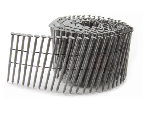 (B&C Eagle 314X120HDRC Round Head 3-1/4-Inch x .120 x 15 Degree Hot Dip Galvanized Ring Shank Wire Collated Coil Framing Nails (2,500 per box))
