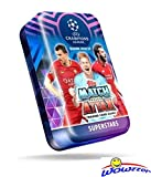 2018/2019 Topps Match Attax Champions League Soccer EXCLUSIVE Collectors MEGA TIN with 60 Cards Including Limited Edition Card & 15 Subset Cards! Look for Ronaldo, Messi, Neymar, Bale