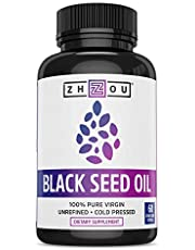 Black Seed Oil Capsules - 100% Virgin, Cold Pressed Source of Omega 3 6 9 - Nigella Sativa Black Cumin Seeds - Super Antioxidant for Immune Support, Joints, Digestion, Hair & Skin - 60 Liquid Caps