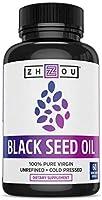 Black Seed Oil Capsules - 100% Virgin, Cold Pressed Source of Omega 3 6 9 - Nigella Sativa Black Cumin Seeds - Super...