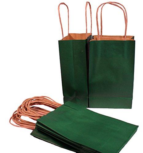 Creative Hobbies® Hunter Green Small Paper Gift Handle Bags, 5.25