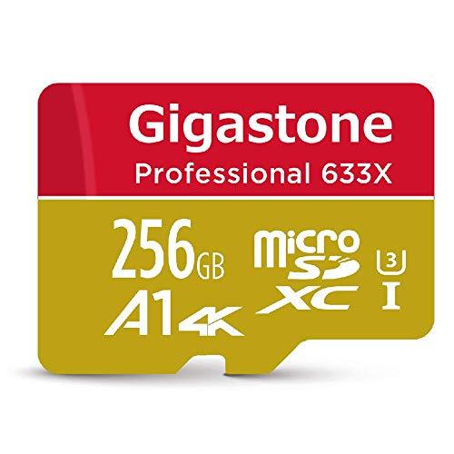 Gigastone 256GB Micro SD Card, Professional 4K Ultra HD, High speed 4K UHD gaming, Micro SDXC UHS-I U3 C10 Class 10 Memory Card with Adapter