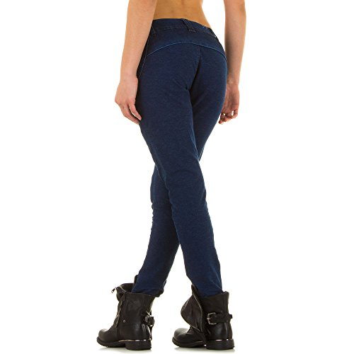 Damen Jeans, RELAXED CHINO STRETCH JEANS, KL-J-FA193, Blau, 34