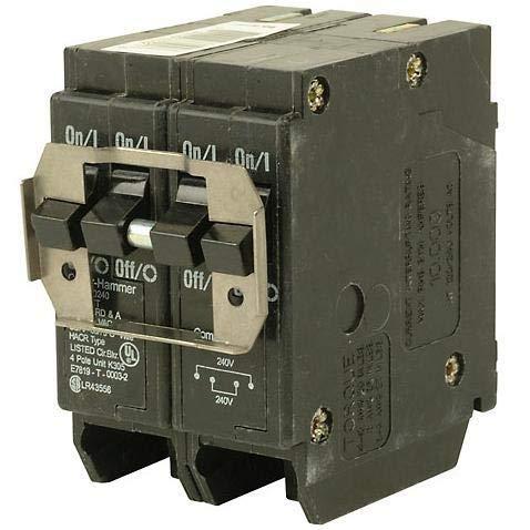 - Eaton BR420 Breaker, 4 x 1P, 40A, 120/240V, 10 kAIC, Non-CTL Quad,