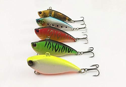 - Fishing Lures - 5Pcs Fish Bait 5.5cm 7.5g Hard Lure Vibration Swimbait Striped Bass Killer Freshwater Sea Fishing Tackle