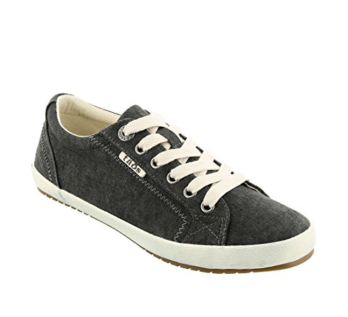 Taos Women's Star Charcoal Washed Canvas Sneaker 9 B (M) US