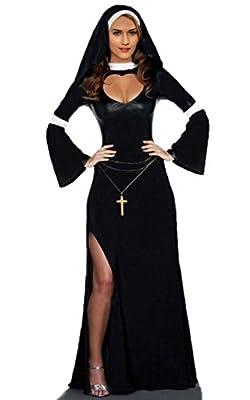 JJ-GOGO Naughty Nun Fancy Dress Costume Sexy Nun Costumes