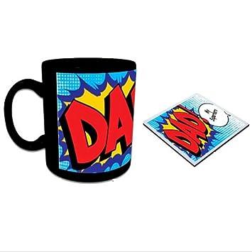 Personalized Super Dad Mug, 325 ml Cups, Mugs & Saucers at amazon