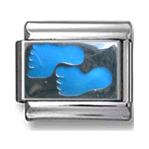 - Blue Footprints Italian Charm