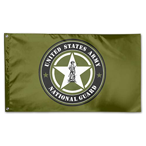 JANLAGERFLAG 3x5 Foot United States Army National Guard Flag Navy Green Flag