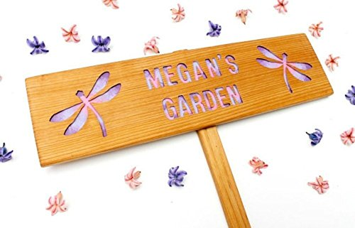Personalized Dragonfly Sign, Memorial Garden, MIL gift, Tie Dye Signage, Girls Garden Sign, Custom Marker, Personalized Sign, Your Name Here, Family Sign, Outdoor Signage, Yard Art