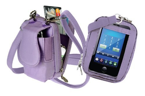 Charm 14 PursePlus Touch Cell Phone Purse - Retail Packaging - Lavender