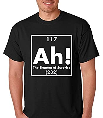 Raw T-Shirt's Ah! The Element Of Surprise Funny Chemistry Premium Men's T-Shirt