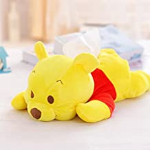 YOURNELO Cartoon Character Plush Dolls Paper Holder for Bedroom or Car (Winnie the Pooh)