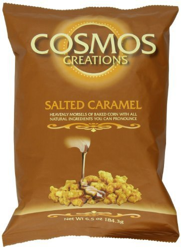 Premium Puffed Corn - Salted Caramel Popcorn Without Hulls - Gluten-Free Snack - 6.5 Ounces Each Bag (Pack of 2) ()