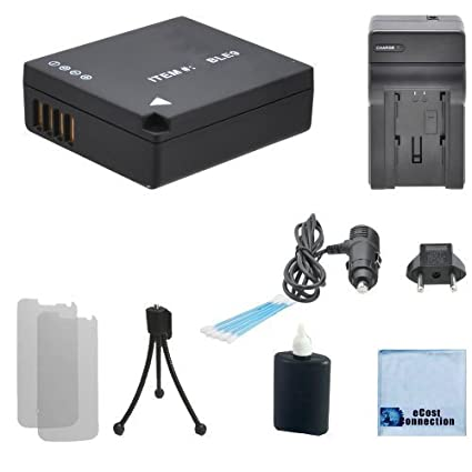 Amazon.com : DMW-BLE9 Battery For Panasonic Lumix + Car/Home ...