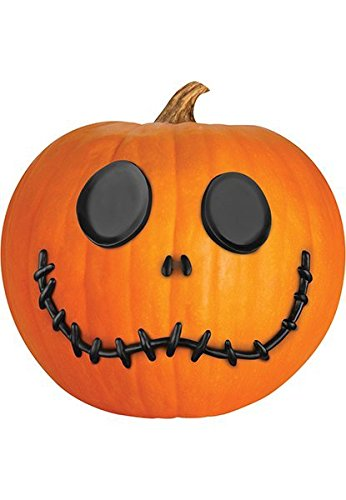 Jack Skellington Pumpkin Face Push In Pumpkin Halloween Decor Decoration Prop -