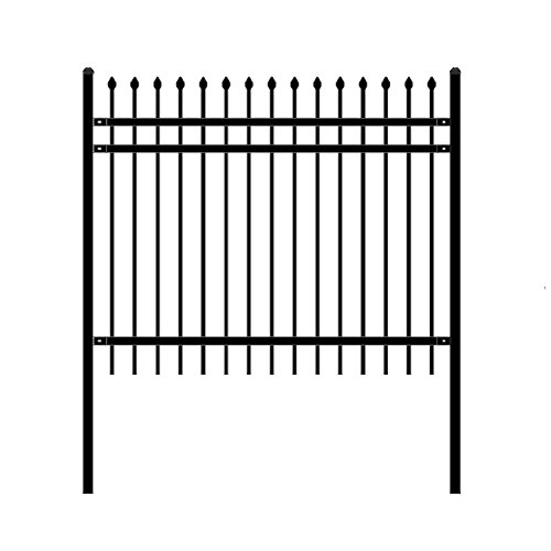ALEKO Rome Style Self Unassembled Steel Fence 6 X 5 Feet, Black