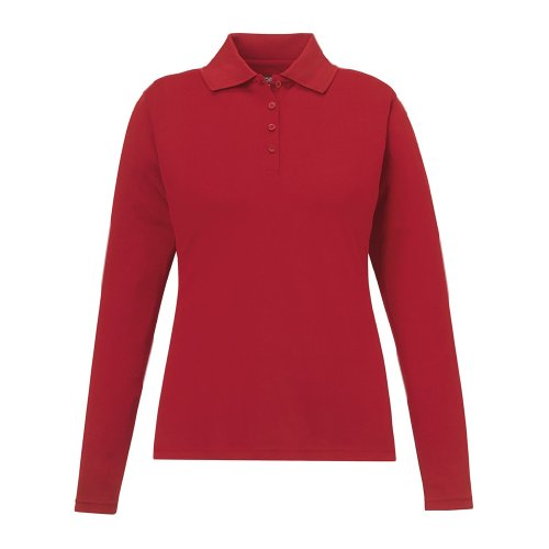 (Ash City Ladies Pinnacle Core 365 Performance Polo (XX-Large, Classic Red))