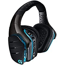 Logitech G933 Artemis Spectrum – Wireless RGB 7.1 Dolby and DST Headphone Surround Sound Gaming Headset – PC, PS4, Xbox One, Switch, and Mobile Compatible – Advanced Audio Drivers – Black
