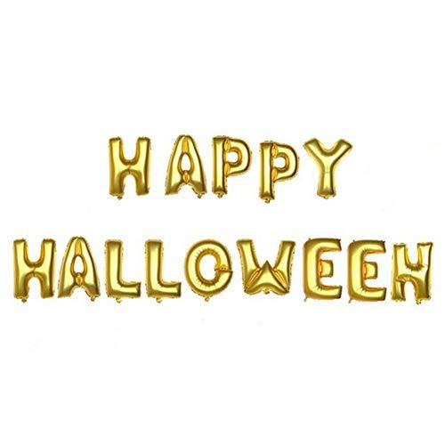 Yosoo 16Inch Happy Halloween Letters Foil Balloons House