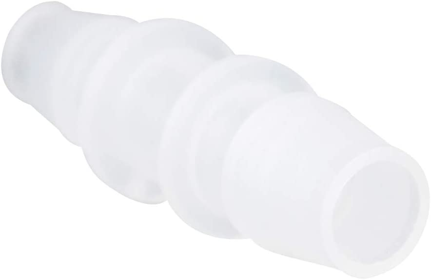 1//4 Barb to 3//8 Male Thread White Adapter Union Fitting Pack of 5 Quickun Plastic Hose Barb Fitting