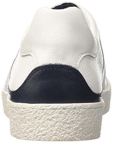 Bikkembergs Ris-Er 842, Zapatillas de Estar por Casa para Hombre Bianco (White/blue)