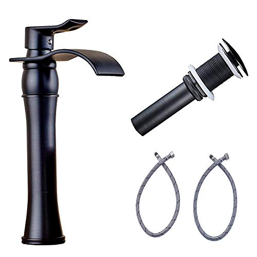 - Votamuta Single Lever Bathroom Oil Rubbed Bronze One Hole Basin Vessel Sink Faucet One Hole Mixer Tap with Pop Up Drain
