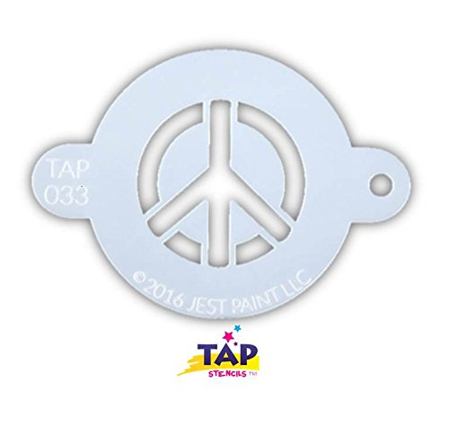 TAP 033 Face Painting Stencil - Peace Sign ()