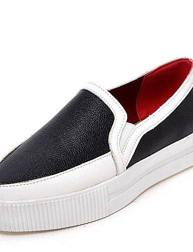 Silver Cn39 Mujer 5 De Uk6 Silver us8 semicuero Rojo us8 Cn40 plataforma Plata Zapatos Comfort vestido negro 5 Uk6 creepers Eu39 Zq mocasines Casual wUETq