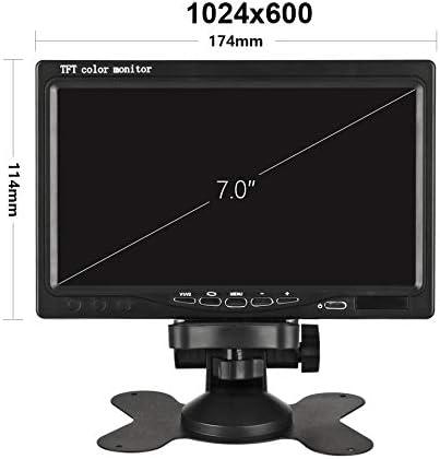 7 inch Car Monitor HUINETUL 12V 24V TFT Color LCD Backup Car Display Screen Monitor for Car Truck Caravan Rear View Camera//DVD//Satellite Receiver 800x480p