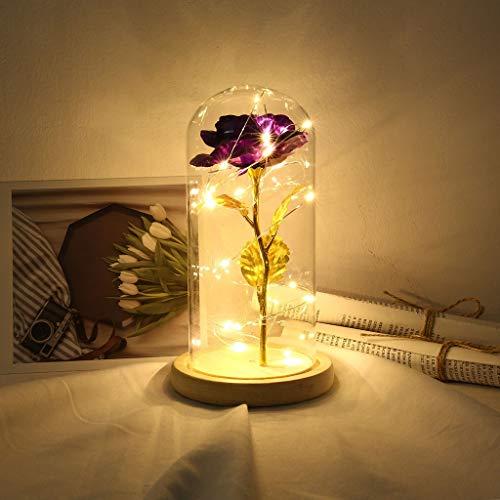 CapsA Gold Foil Rose Flower Lamp Great Gift