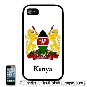 Kenya Coat of Arms Flag Apple iPhone 5 Hard Back Case Cover Skin Black by mcsharks