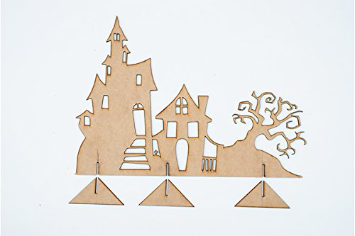 Haunted Village Decor (Haunted House Spooky (Halloween Village To Paint)