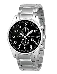 Fossil Men's FS4249 Stainless Steel Bracelet Black Analog Dial Chronograph Watch
