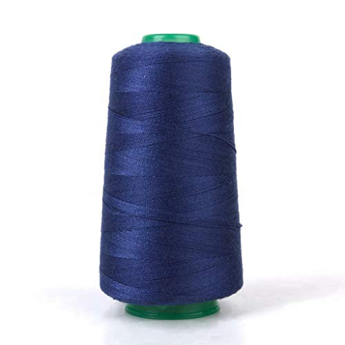 3000Yds/Spool Polyester Sewing Machine Thread 20S/2 for Jeans Leather Bag Case   Color - Navy - Invisible Thread Kevlar