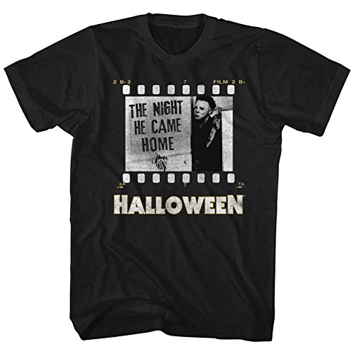 A&E Designs Halloween Tall T-Shirt Film Strip Black Tee, -