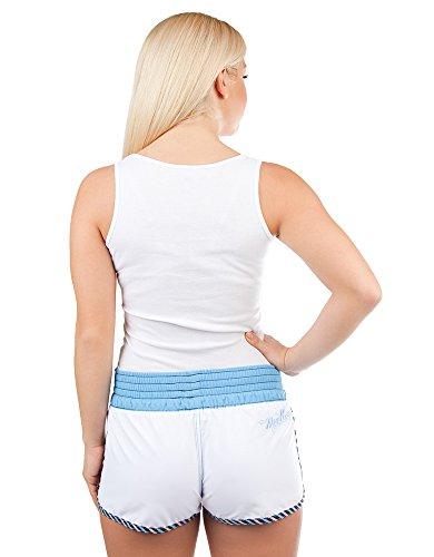 Solid–Pantalones para mujer, color blanco, azul XS multicolor - White/Azure