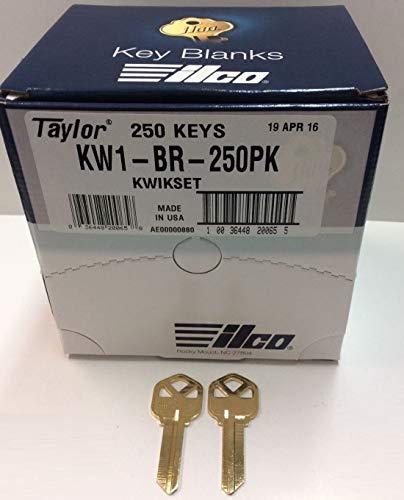 MSPowerstrange 250 Key Blanks KW1-BR-250BK for Locksmith / 250 Kwikset KW1 / Brass/Made by Ilco by MSPowerstrange (Image #2)