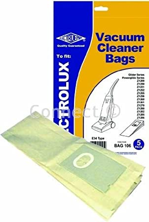5 paper vacuum cleaner bags for Electrolux Glider Z1200 Z1250 Z1251...