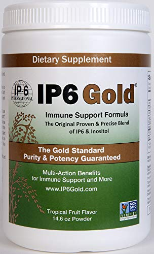 Original IP-6 Gold Immune Support Formula with Stevia Tropical Fruit Flavor – 14.6 Ounce