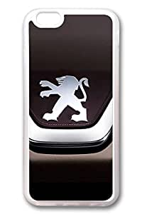 iPhone 6 Case - Clear Soft TPU Back Cover with Peugeot Car Logo 5 Print for iPhone 6 Scratch-Resistant Clear Slim Fit Cover for iPhone 6 4.7 Inches by Maris's Diaryby Maris's Diary