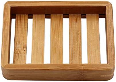 Immoch Jabonera de bambú Caja de jabón de Madera Natural Plato de jabón Práctico y ecológico Ideal para su Cuarto de baño: Amazon.es: Hogar