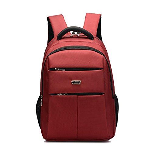 Mochila De Nylon Para Hombres Bolsa De Viaje Impermeable De Gran Capacidad Mochila De Negocios Para Exteriores De Escuela Secundaria,Black Red